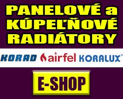 Panelové a kúpeľňové radiátory KORAD, KORALUX, AIRFEL - e-shop
